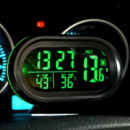 Автомобильные часы VST 7009V термометр вольтметр
