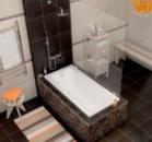 Акриловая ванна Cersanit Virgo 1500х750х420мм