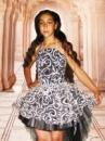 Прокат платья «Рыбка» чёрное с белым на 6-10 лет