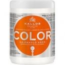 Маска для окрашенных и поврежденных волос с льняным маслом и УФ-фильтром Kallos Color Калос Колор, 1 л