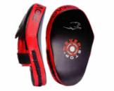 Лапи боксерські PowerPlay 3051 Чорно-Червоні PU [пара]