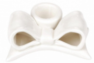 Набор 6 подсвечников «Белый бант» 8.2см, керамика