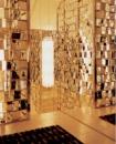 Золотая зеркальная плитка. Зеркала тонированные под золото.