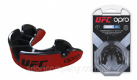 Капа OPRO Junior Silver UFC Hologram Red/Black (art.002265001)