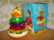 Пирамида-неваляшка «Музыкальный цыпленок» TM Joy Toy