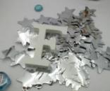 Конфетти для воздушных шаров звезды серебро 35 мм 50 грамм