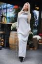 Теплое трикотажное платье на меху от Kayes