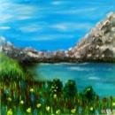 Картина «Горный пейзаж». Автор-художник Ирина Борисова
