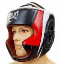 Шлем для бокса кожаный EVERLAST закрытый EV-5242-BK черный-белый