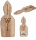 Доска разделочная «Зайчик» 48х20см, деревянная