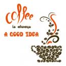 Виниловый Стикер Coffee a Good Idea