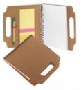 Эко набор с блокнотом, стикерами и ручкой.