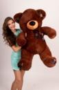 Плюшевый медведь Клетка 130см Шоколадный