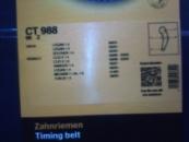 ремень ГРМ CT988 для Dacia\Renault 1.4, 1.6