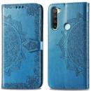 Кожаный чехол (книжка) Art Case с визитницей для Xiaomi Redmi Note 8T Синий