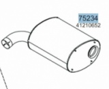 Глушник IVECO STRALIS/EUROSTAR CURSOR 41210652, 28456 (вироб-во HOBI)