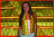 Атласные шарфы с логотипом Киев