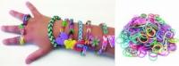 Разноцветные резинки для плетения Rainbow loom
