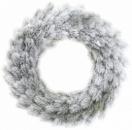 Новогодний декоративный венок «Хвоя в снегу» Ø50см, искусственная хвоя