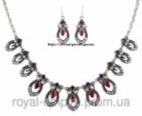 Набор «Индиана» серьги и ожерелье с красными камнями.