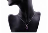Амулет, кулон, ожерелье  с фиолетовым камнем