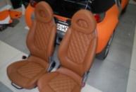 Smart Roadster перетяжка салона кожей (ромбы)