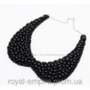 Воротник - ожерелье  «Бусинка» черный.