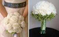 Свадебные букеты из гвоздик