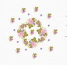 Салфетка нежные мотивы канва с нанесенным рисунком(рисунок смываемый)