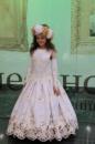Красивое белое платье для девочки ПРОКАТ