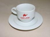 Чашки Фрегат 220 мл с блюдцем и лого TURCOFFEE