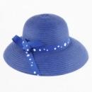 Пляжная женская шляпа с ленточкой в горошек маленькая