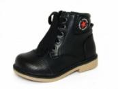 Ботинки демисезонные Шалунишка 100-523 на шнурках черные.