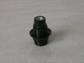Патрон карболитовый с юбкой E14 чёрный