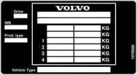 Дублирующие таблички (шильды) на авто VOLVO любой модели и кузова