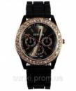Женские силиконовые наручные часы Geneva со стразами