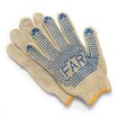Перчатки вязанные с ПВХ точкой FAR