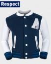 Кофта - бомбер американка детская (бейсбольная кофта) на кнопках утепленная (на флисе), бренд «Respect» (Англия)