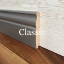 Высокий серый плинтус Classic 10 см (16*100)