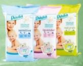Детские влажные салфеткии DADA 72шт.