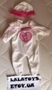 Одежда для Baby Born Беби Борн ползунки с шапочкой