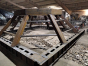 Металлоконструкция пирамида под купол