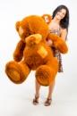 Плюшевый медведь Гриша 250см Светло-коричневый