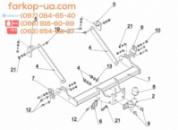 Тягово-сцепное устройство (фаркоп) Opel Movano (Long, спарка) (2010-...)