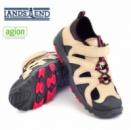Сандалии спортивные подростковые носок закрытый темный бежевый, бренд «Lands`End» (Америка)