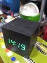 Настольные деревянные Часы Cube светодиодные Будильник в виде куба идеально гармонируют с деревянной мебелью