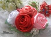 повязка для малышки с розами 2