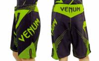 Шорты для ММА Venum Fight NEW черно-зеленые