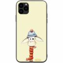 TPU+PC чехол ForFun для Apple iPhone 11 Pro Max (6.5«) Жираф в шапке / Бежевый