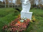 Cкульптура Ангел сидящий на тумбе №2
